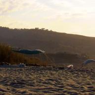 naked under tent, Messakti beach, Ikaria