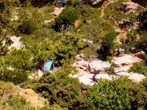 the old free camping site before the flood in the river of Nas, Ikaria