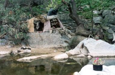 Hippie hut, Chalares river, Nas Ikaria, old date