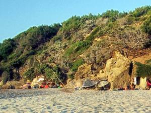 the eastern sided of Messakti beach, Ikaria, in mid-August