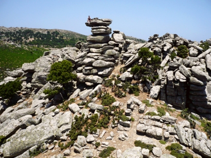on stacking stones in Ikaria