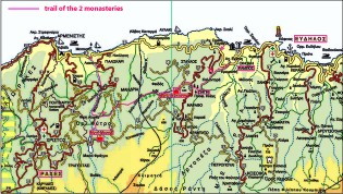Map the Trail of the Elves in Ikaria