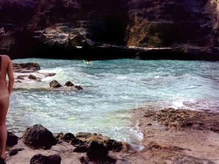 Whirl Pool Ikaria: Nana's picture from her revealing blog entry: Wild coves & beaches in northern Ikaria