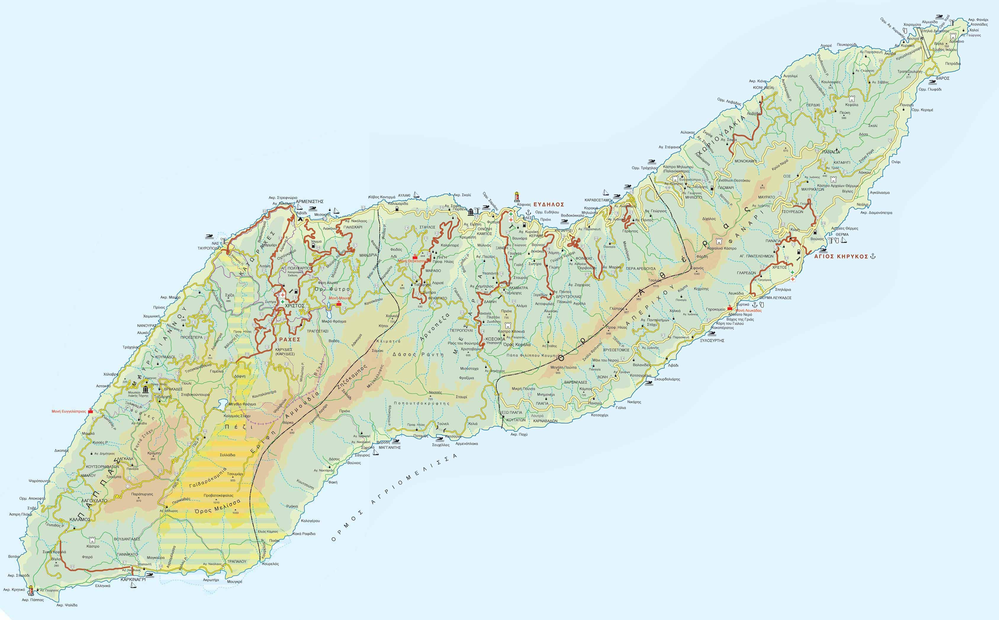 All Ikaria Map Web Eleni S Blog In Ikaria