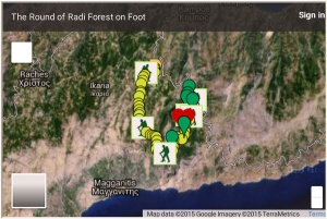 Presenting the Google map of a circular hike in the Forest of Radi which lies between the village of Petropouli in Messaria and the village of Frantato in Perameria as created by the Mountain Climbing and Hiking Club of Ikaria and the Google map of several hikes in Ikaria, especially the one in Chalares canyon, created by our Czech friend Zdeněk who visited our island with his girlfriend Petra.