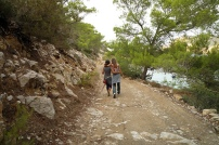 Two girls friends in Ikaria
