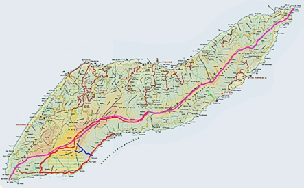 ikaria everybody hiking weekend map