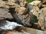Myrsonas river, waterfalls near Gialiskari, Ikaria island, Greece