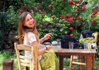 Xenia smiles summer Ikaria