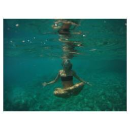 underwater padmāsana