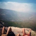 girl hikers relax ikaria