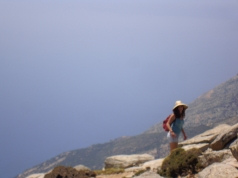 Our guide Ikaria, from my article: 'Break on through to the other side ☀ yeah !'