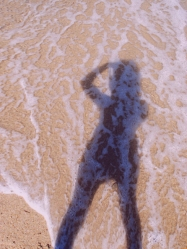 my shadow on the sand