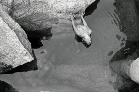 In a river pool of Nas Ikaria