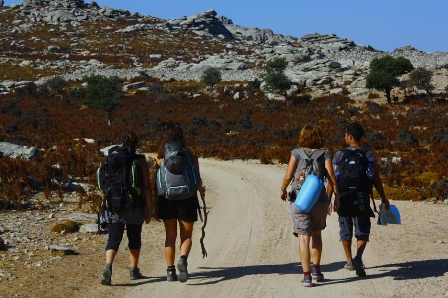 On the road inside Erifi plateau