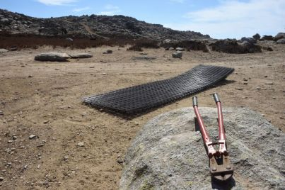 Picture 14: Oasification metal wire mesh panels piled
