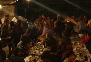 Woman dancing in Ikaria