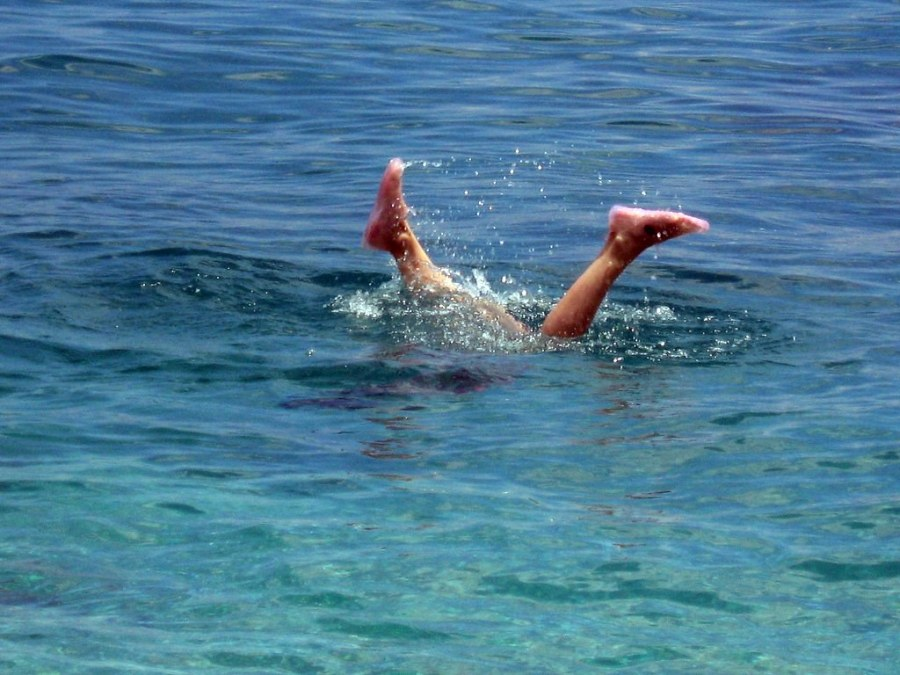 The fall and drowning of Icarus in Ikaria